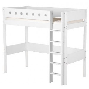 Cama alta Flexa White