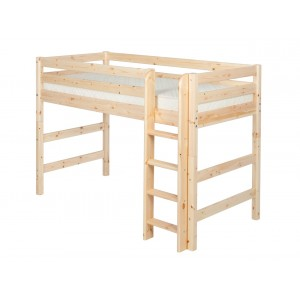 Cama semi alta - escalera recta